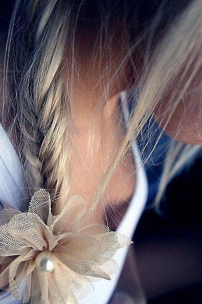 #fishtail braids #braids loving fishtail braids :) bow!