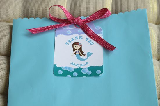 Mermaid Party_Thank you tag_ by Meemo Party Accessories