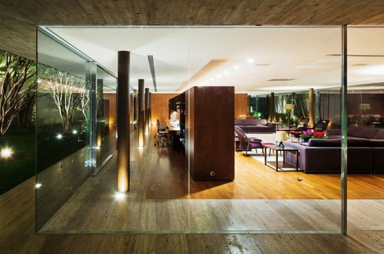 Architecture Designs, Glamorous Frameless Glass Wall: The Inspiring Toblerone House