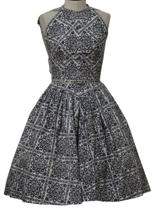 1950's Womens Print Sun Dress