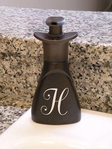 Originally a Dawn handsoap bottle spray painted bronze.