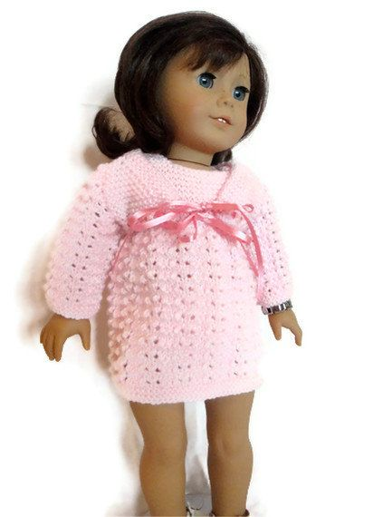 Pink Dress and Cardigan American Girl Doll by PreciousBowtique, $15.00