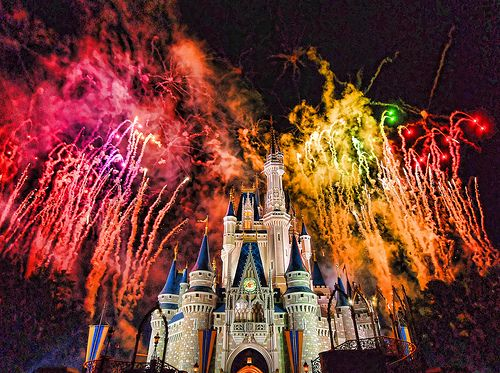 Fireworks over Cinderella Castle at @Colleen Sweeney Egan Disney World ! What a beautiful sight.