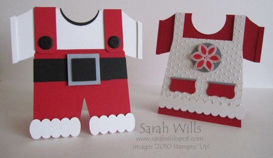 tutorial santa and mrs claus card