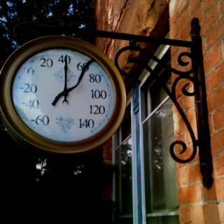 Wall thermometer, Curry Mansion; Vernal Utah