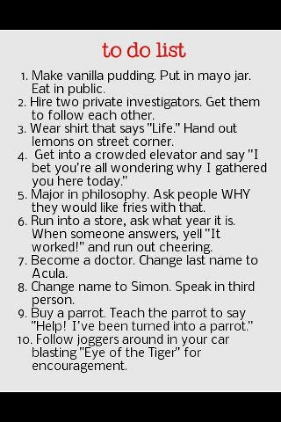 Things to do in public. Makes me laugh every time...