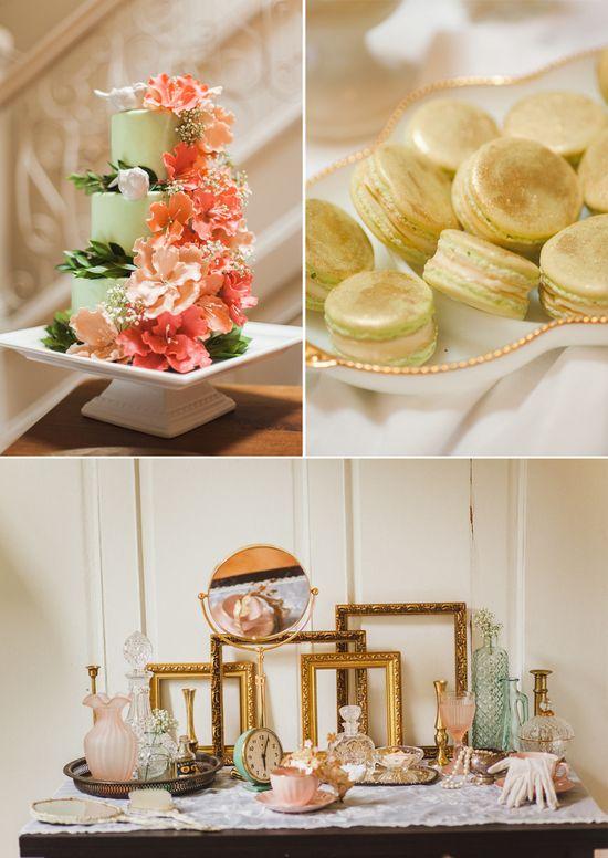 French vintage style dessert & decor