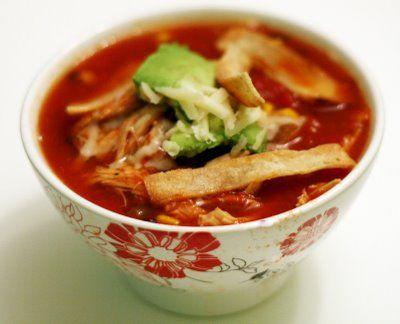 slow cooker.. chicken tortilla soup