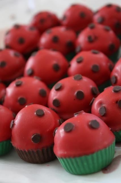 ladybug cake balls