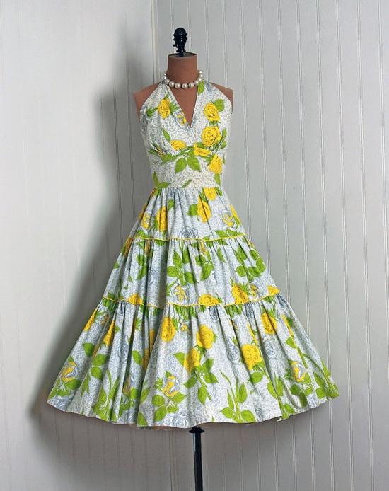 1950's Cotton Sun Dress