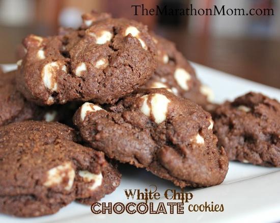 White Chip Chocolate Cookies :: TheMarathonMom.com