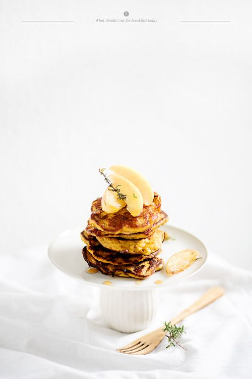 Pumpkin and apple pancakes