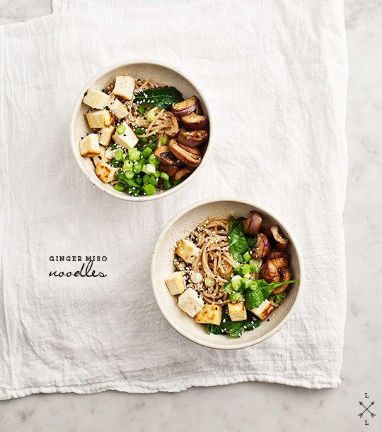 ginger miso noodles with eggplant #loveandlemons