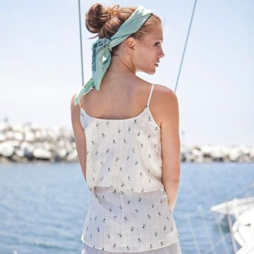tie up your hair with a bandana in the summer months #style #tips