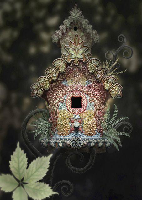 Shabby Chic Birdhouse - So Cute