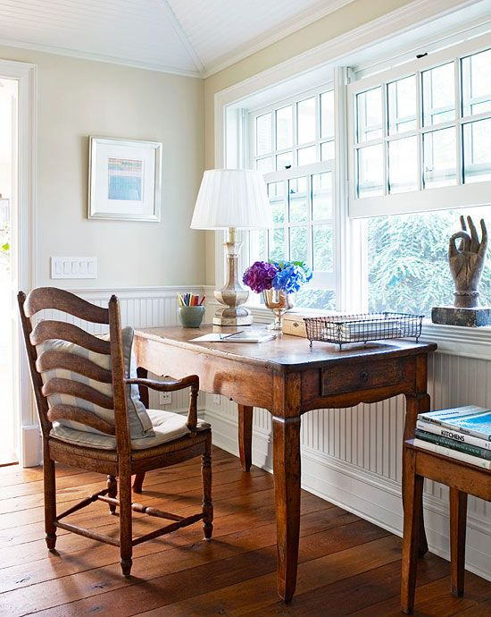 Charming East Hampton Cottage - Traditional Home®  Love the colors, windows...