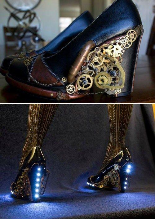 Steampunk Heels.  WANT!