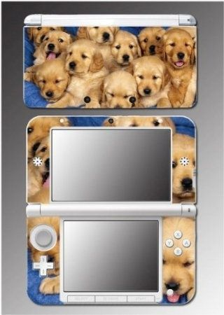 Dog Cute Puppies Golden Retriever Pet Boys Girls Video Game Vinyl Decal Cover Skin Protector 9 for Nintendo 3DS XL $9.98 Amazing Discounts Your #1 Source for Video Games, Consoles & Accessories! Multicitygames.com Click On Pins