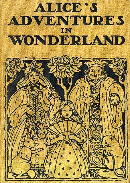 Vintage book cover alice in wonderland
