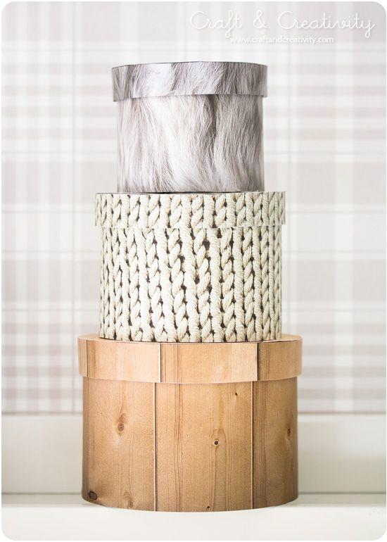 DIY: natural looking boxes