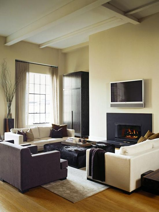 Designers Greg Glidden and Francine Gardner wanted something warm but contemporary for this Wall Street bachelor pad.