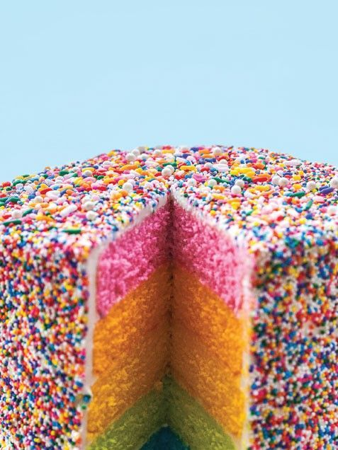 Sprinkles Rainbow Cake