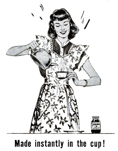 Sanka...made instantly in the cup! #vintage #1940s #food #ads