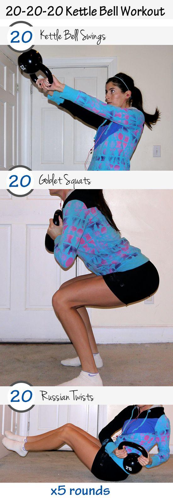 20-20-20 Kettlebell Workout via pumpsandiron.com