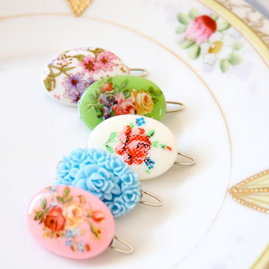Sweet Cameo Granny Chic Barrettes  Choose by NestPrettyThingsShop
