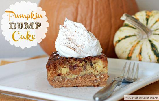 Pumpkin Dump Cake - this looks amazing!!