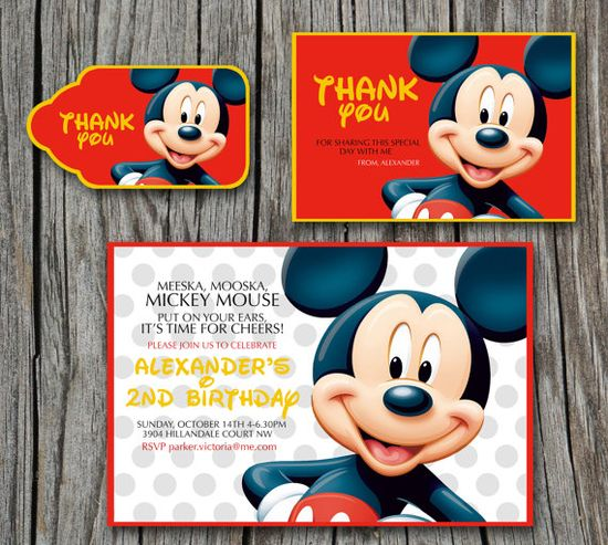 Birthday Party Set Mickey Mouse Clubhouse  by EmbellisheDesigns, $8.00