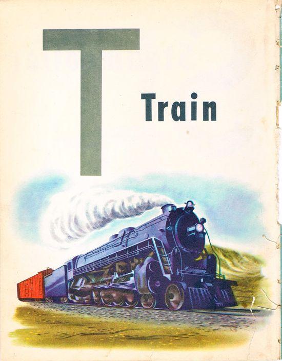 Vintage train art