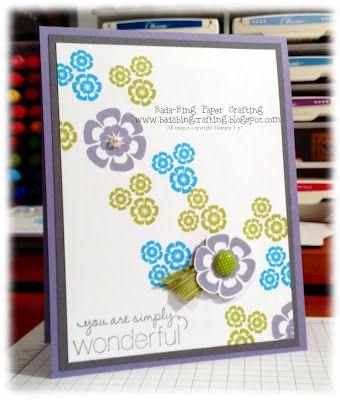 Stampin' Up!  Betsy's Blossoms  Mindy Backes at Bada-Bing! Paper-Crafting