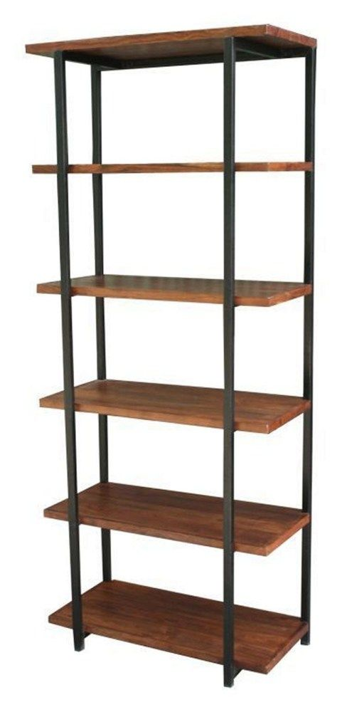 Tuscan Decor :-  This is the San Miguel Iron Bookshelf. Made of 100% hand forged iron and a solid rosewood top. This bookshelf would be right at home in a dorm, study or home office.