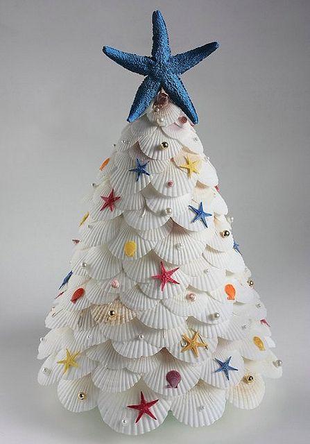 scallop and starfish christmas tree