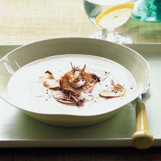 Big Heart Artichoke and Parmesan Soup // More Warming Soups: www.foodandwine.c... #foodandwine