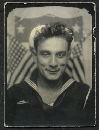 1940s Handsome Man Male Soldier Sailor Navy World War 2 vintage photo by Christian Montone, via Flickr