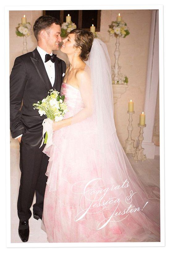Justin Timberlake and Jessica Biel's wedding. #Celebstylewed