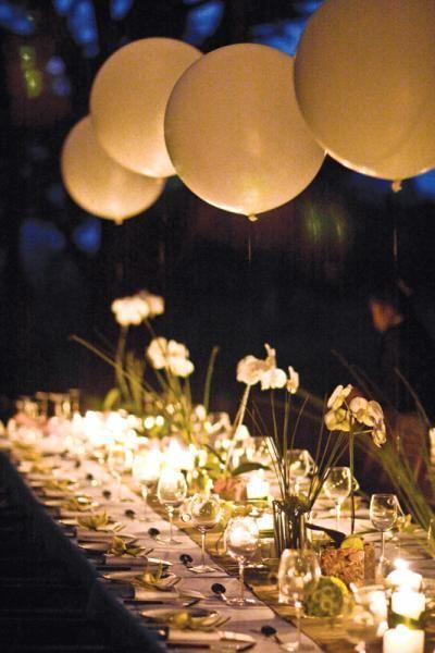 Romantic night reception.