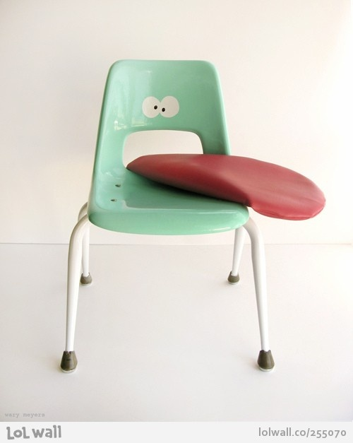 Growing Up Absurd chair by Wary Meyers