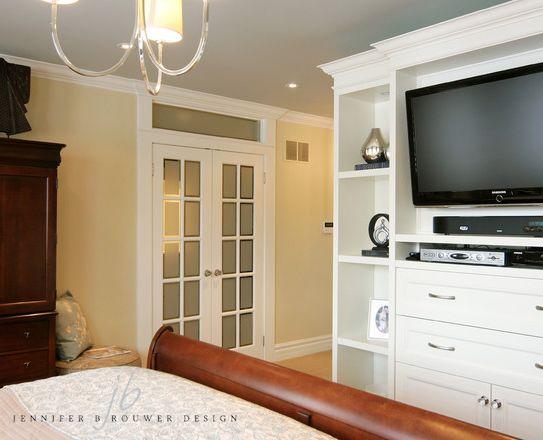 Aurora bedroom designed by Jennifer Brouwer Design. #jbd #intdesign #bedroom #customdesign #millwork