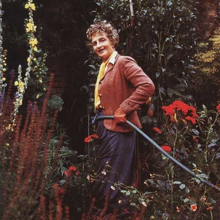 Nancy Lancaster Working In Her Garden