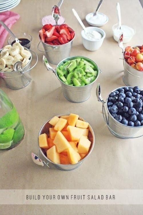 build-your-own fruit salad bar