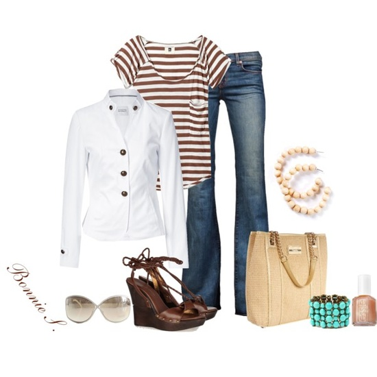 brown & white, created by bonnaroosky on Polyvore