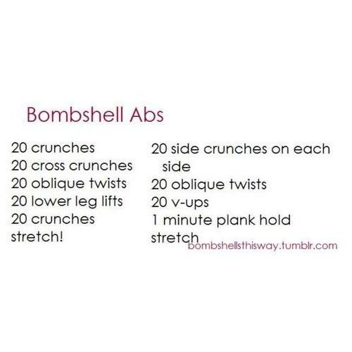 Ab workout.