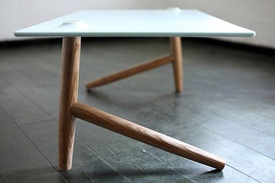 two leg table