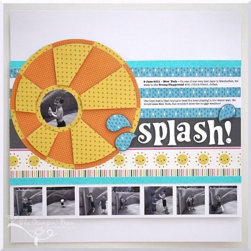 Summer Scrapbook Layout by @Regina Hager Mangum using Lifestyle Crafts nesting circles and nesting rings. #scrapbooking #diecuts