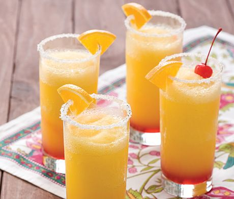 Frozen Sunrise Margaritas