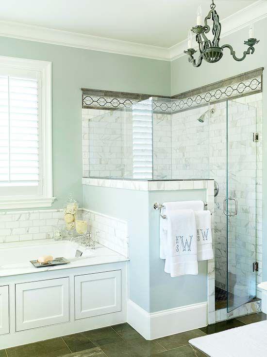 mint shower / bathroom