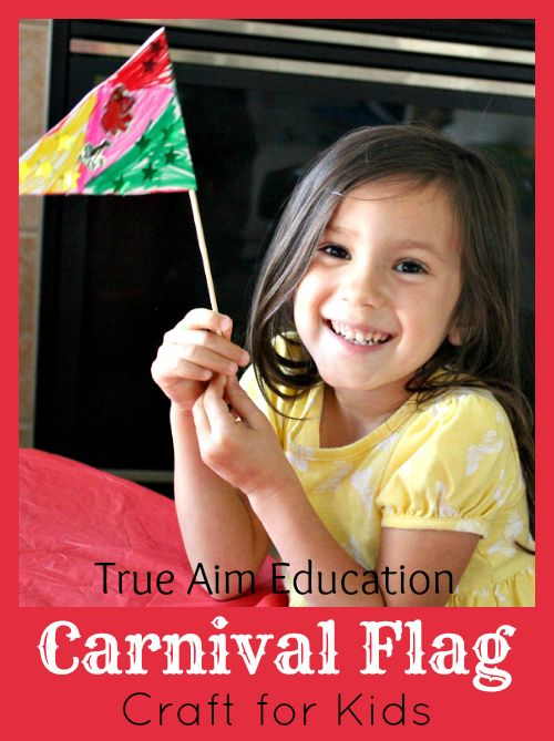 Easy Craft for Kids: Free Carnival Party Flag Printable